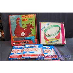 Lot of Vintage Board Games (Mother Hen, Buggy Loop, Fun Copter)