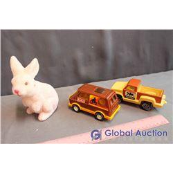 Buddy Toy Van, Tonka Truck and Bunny