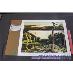 Frood Lake' Numbered Print By Franklin Carmichael And Group Of Seven Publishing W/ COA
