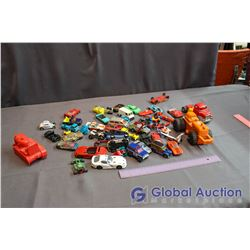 Large Lot of Vintage Toy Metal & Plastic Cars