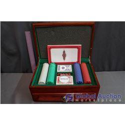 Custom Engraved Poker Set in Chest