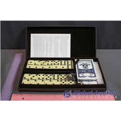 NIB Dominos Game in Satin Box