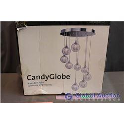 NIB Candy Globe LED 9-Pendant Light Fixture