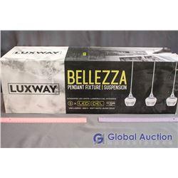 NIB Luxway Bellezza LED 3-Pendant Light Fixture