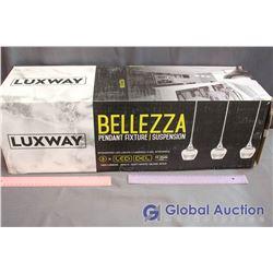 NIB Luxway Bellezza LED 3-Pendant Light Fixture - Damaged Box