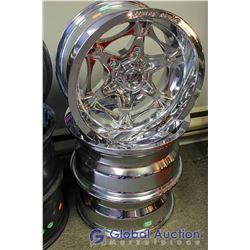 Jesse James Lawless 6 J100 Polished Chrome Rims - Bid Price is Per Rim, Times 3 Rims