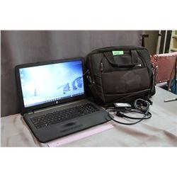 """HP 15-AC180CA 15.6"""" Laptop With Samsonite Laptop Bag"""