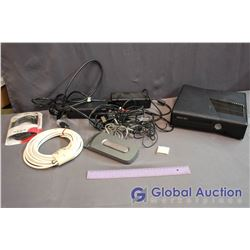 Xbox 360 With Power Cable (2) & AV Cable, Spare Hard Drive, Memory Card, Misc Cables