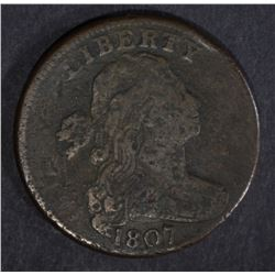 1807 LARGE CENT, VG/FINE