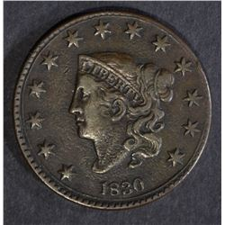 1830 LARGE CENT, VF/XF