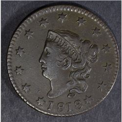1818 LARGE CENT, XF