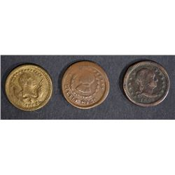 3-AVE CIRC CIVIL WAR TOKENS