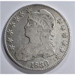1830 BUST HALF DOLLAR, VF