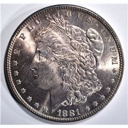 1881 MORGAN DOLLAR, GEM BU