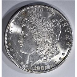 1882-S MORGAN DOLLAR, GEM BU