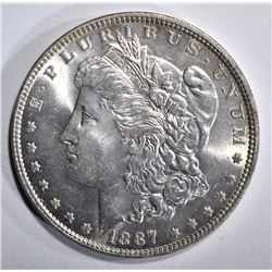 1887 MORGAN DOLLAR, GEM BU