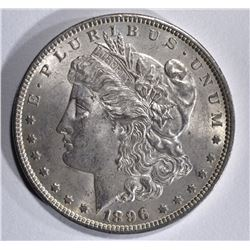 1896 MORGAN DOLLAR, GEM BU