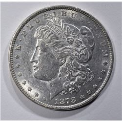 1878 7/8 TF STRONG MORGAN DOLLAR, CH BU