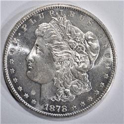1878-S MORGAN DOLLAR, CH BU PL NICE!