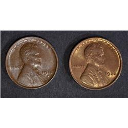 1918-D AU/BU & 1925 CH BU RB LINCOLN CENTS