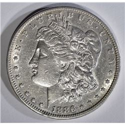 1886-S MORGAN DOLLAR XF/AU