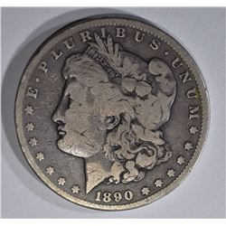 1890-CC MORGAN DOLLAR VG
