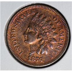 1876 INDIAN HEAD CENT  CH.BU