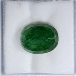 6.5 CARATS OVAL CUT NATURAL EMERALD