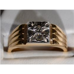 14kt GOLD SINGLE ROUND DIAMOND RING