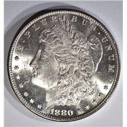 1880-S MORGAN DOLLAR, CH BU PL
