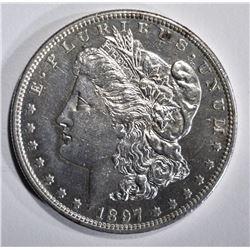 1897-S MORGAN DOLLAR, AU
