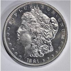 1881 MORGAN DOLLAR, CH BU PL