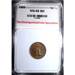 1909 INDIAN CENT, TDCS GEM BU BN