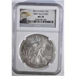 2012 AMERICAN SILVER EAGLE NGC MS70
