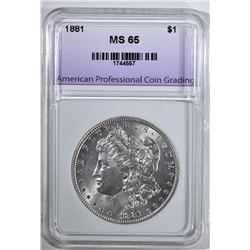 1881 MORGAN DOLLAR APCG GEM BU