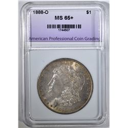 1888-O MORGAN DOLLAR APCG GEM BU+
