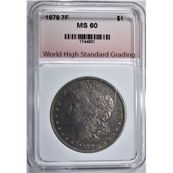 1878 7F MORGAN DOLLAR WHSG CHBU