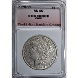 1878-CC MORGAN DOLLAR WHSG AU/BU