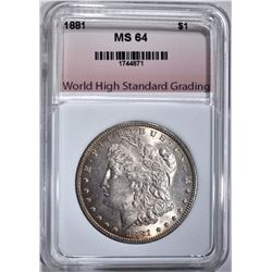 1881 MORGAN DOLLAR WHSG CHBU