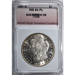 1881-S MORGAN DOLLAR WHSG CH/GEM BU