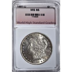 1881-O MORGAN DOLLAR WHSG GEM BU