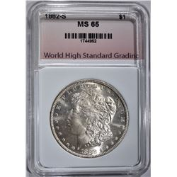 1882-S MORGAN DOLLAR WHSG GEM BU