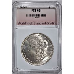 1883-O MORGAN DOLLAR WHSG GEM BU