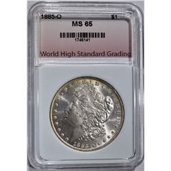 1885-O MORGAN DOLLAR WHSG GEM BU