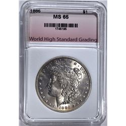 1886 MORGAN DOLLAR, WHSG GEM BU