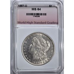 1887-O MORGAN DOLLAR, WHSG CH/GEM BU