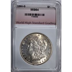1890-S MORGAN DOLLAR, WHSG CH/GEM BU