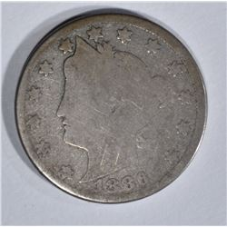 1886 LIBERTY NICKEL, G/AG KEY DATE