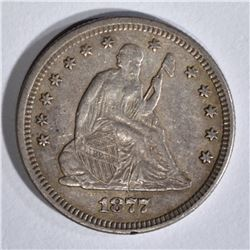 1877 SEATED QUARTER, XF