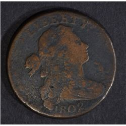 1802 DRAPED BUST LARGE CENT, VG